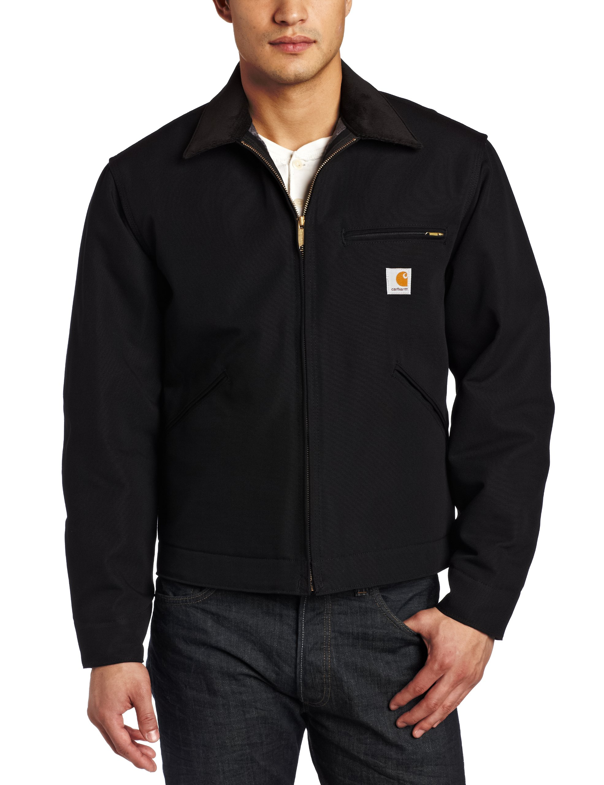 Carhartt Men's Weathered Duck Detroit Jacket J001,Black,Medium