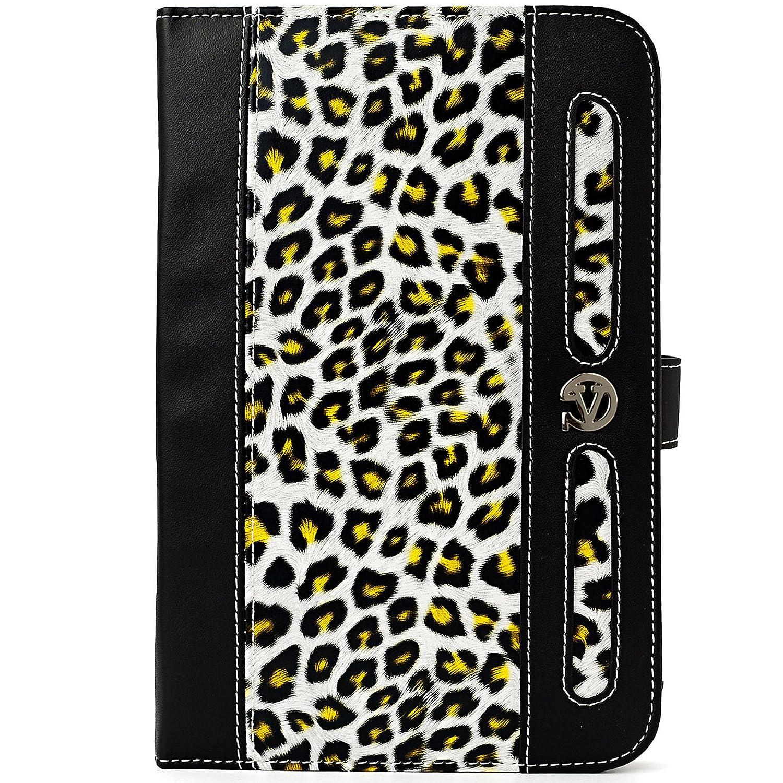 Dauphineコレクション旅行用財布ケースLG Gパッド7.0 V400 / v410 7インチタブレット  Black & Gold Leopard B00BWX759I