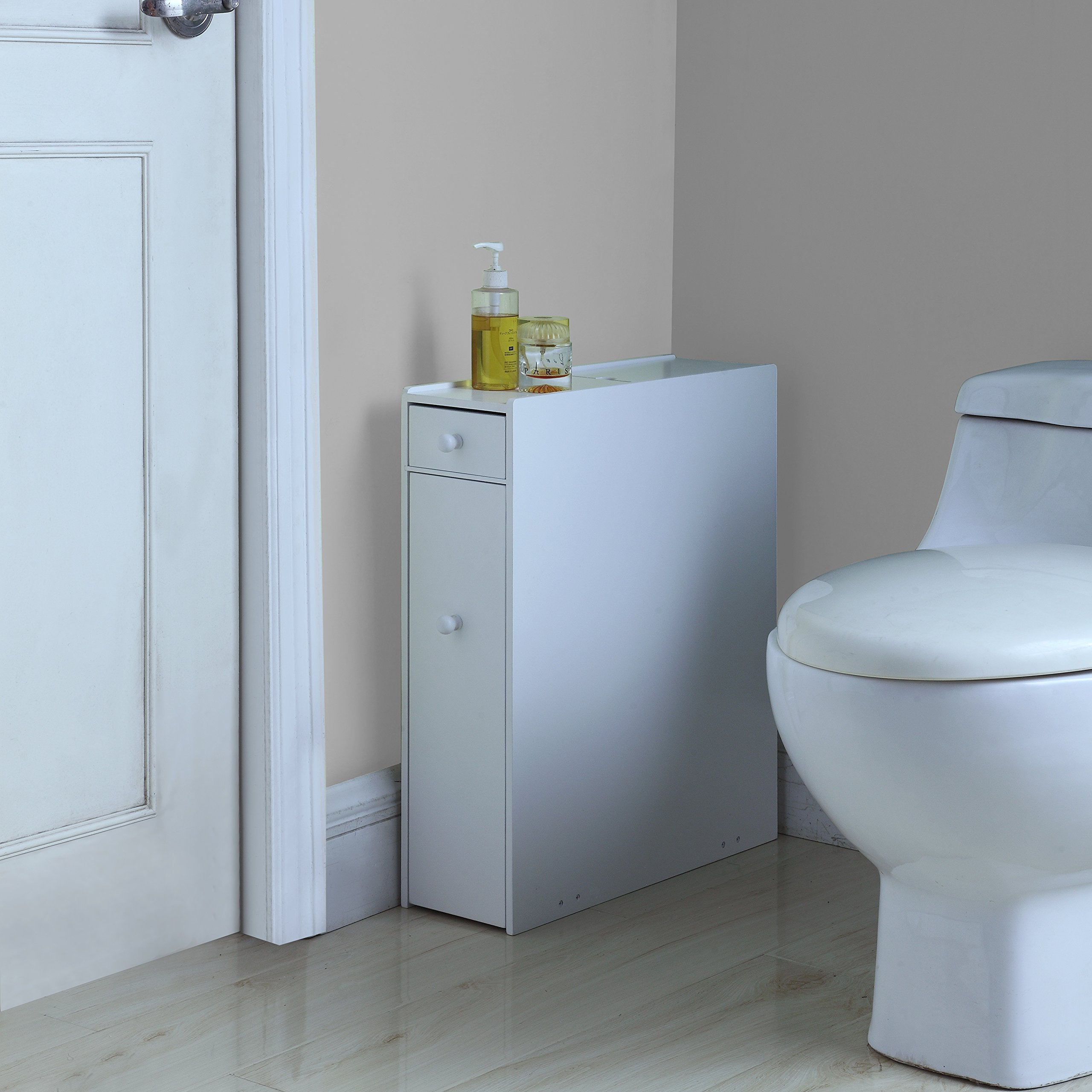 Proman Products Bathroom Floor Cabinet Wood in Pure White ...