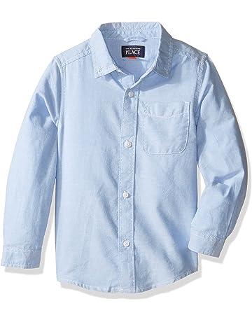 86b28924d The Children's Place Baby Boys' Uniform Solid Long Sleeve Oxford Shirt