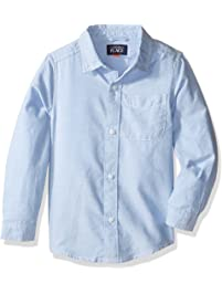 ae70f51d2 The Children s Place Baby Boys  Uniform Solid Long Sleeve Oxford Shirt