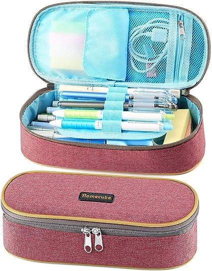 Homecube - Estuche para lápices, gran capacidad, práctico estuche de papelería, estuche de maquillaje, para niños, niñas, estudiantes y adultos: Amazon.es: Oficina y papelería