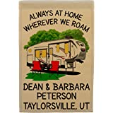 Always at Home Wherever We Roam Personalized 5th Wheel Campsite Flag, Customize Your Way, Flag Only