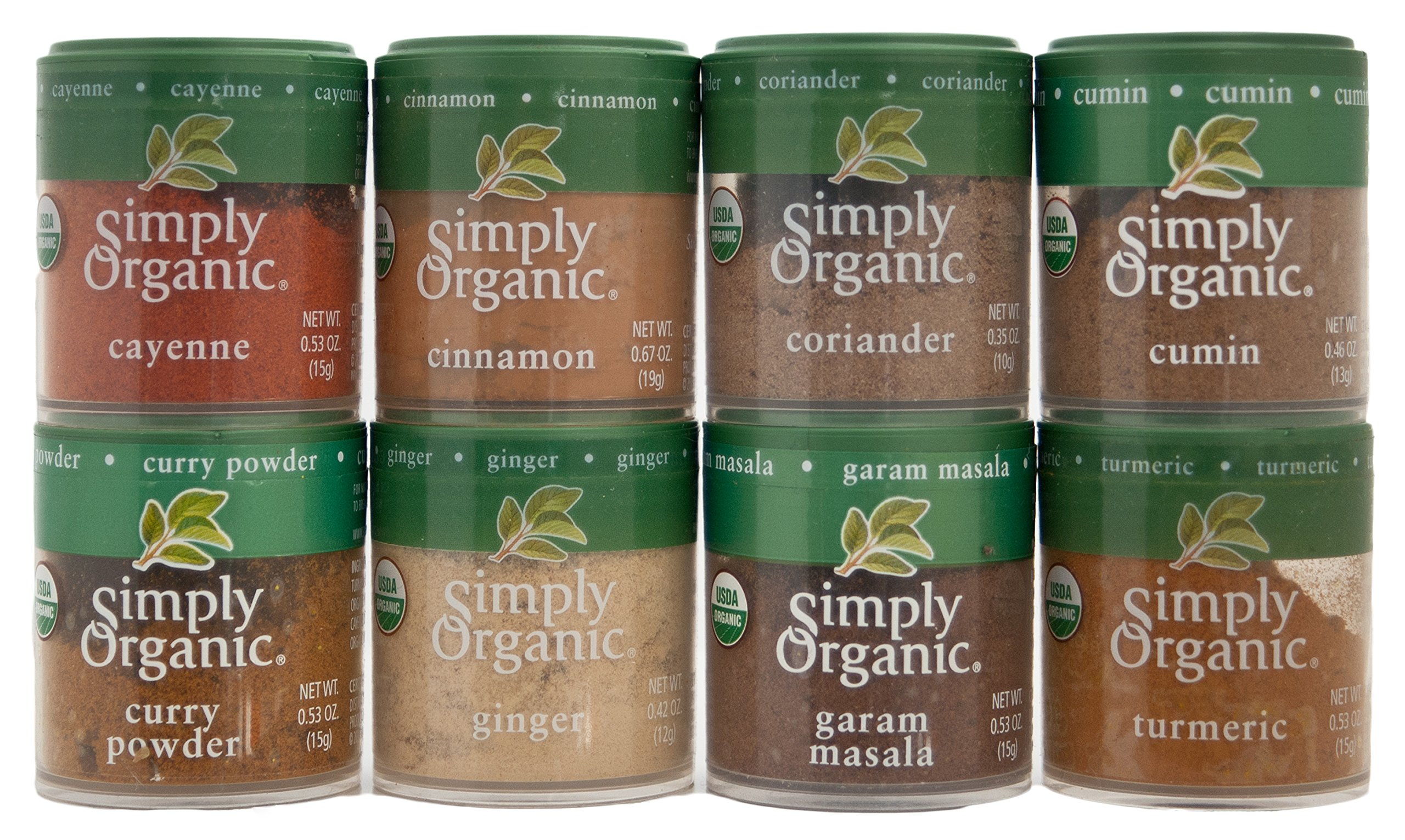 Indian Spices Set From Simply Organic with 8 Spices by Simply Organic (Image #1)