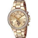U.S. Polo Assn. Women's Gold-Tone Analog-Quartz Watch with Alloy Strap, 8 (Model: USC40032AZ)