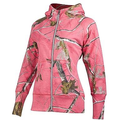... Amazon com Realtree Girl Star Camo Sweatshirt Large Sugar Coral ae605e88b