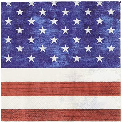 Creative Converting Patriotism Beverage Napkins Party Supplies, Multicolor: Toys & Games
