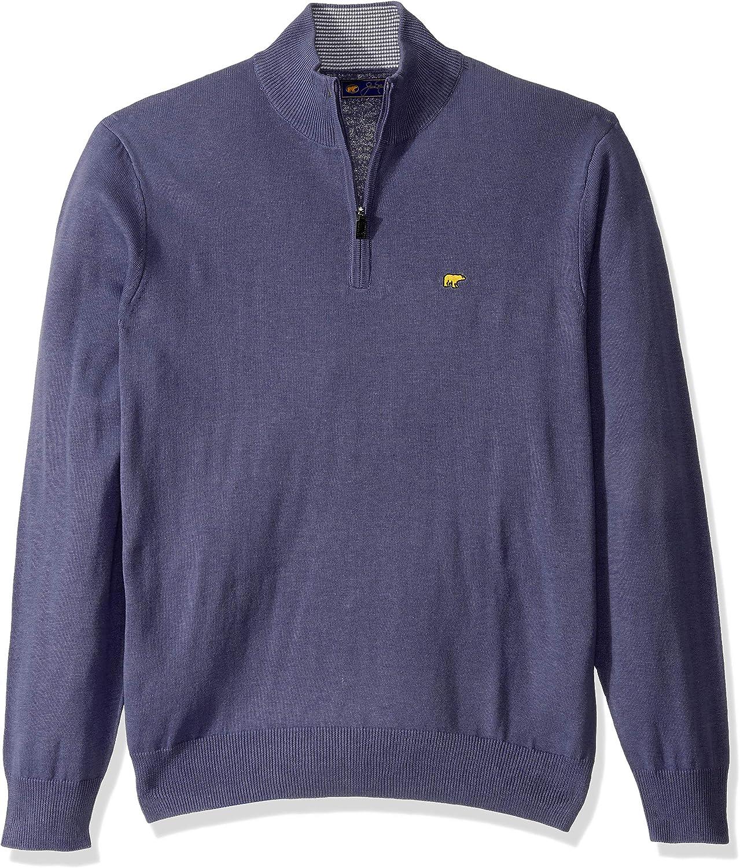 Jack Nicklaus Mens Long Sleeve 1//4 Zip Pullover Seater Fleece Jacket