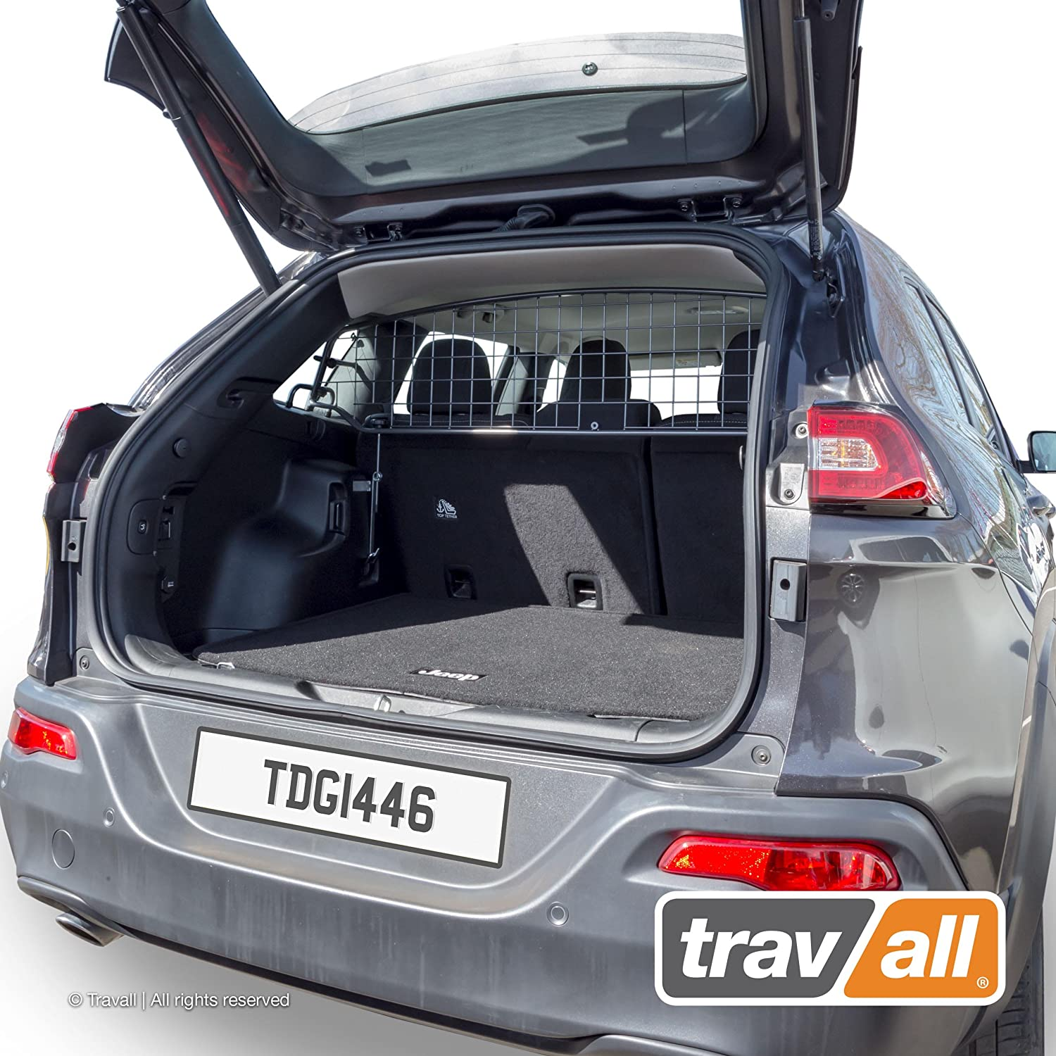 Travall Guard Compatible with Jeep Cherokee 2013-Current TDG1446 – Rattle-Free Steel Pet Barrier