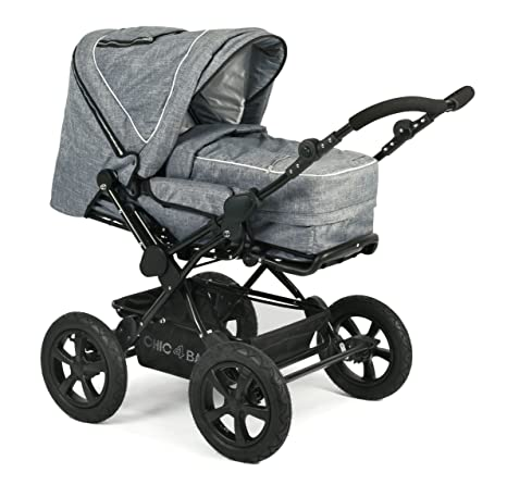 CHIC 4 Baby 100 34 cochecito Viva, Jeans Blue, Gris
