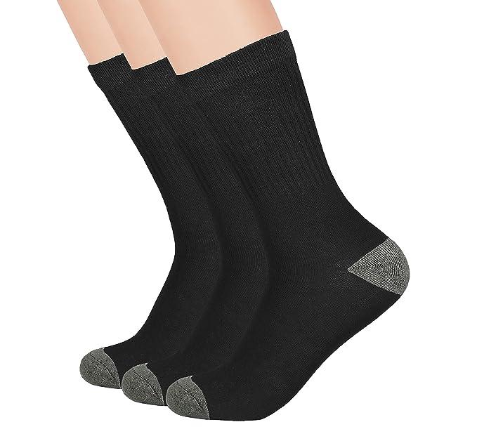 5155c61fc0fe Boys Crew Athletic Ribbed Socks - School Uniform Socks-Breathable,  Cushioned - 3 and