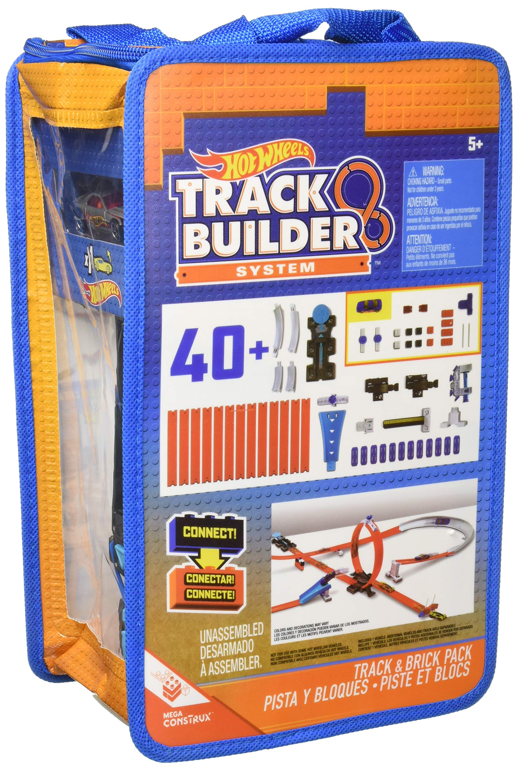 Mattel Hot Wheels Track Builder Track and Brick Pack Playset