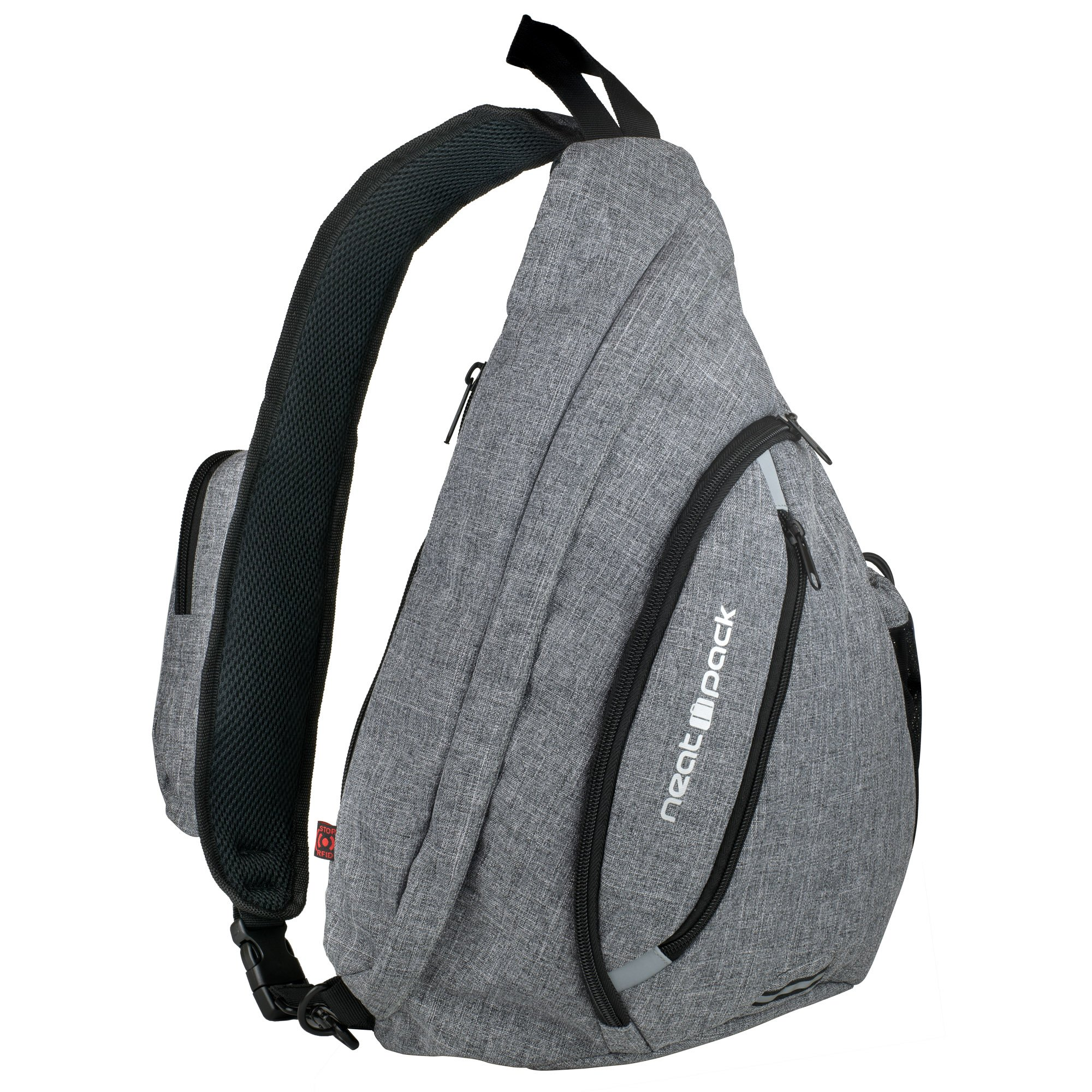 Versatile Canvas Sling Bag/Urban Travel Backpack, Grey | Wear Over Shoulder or Crossbody for Men & Women, by NeatPack