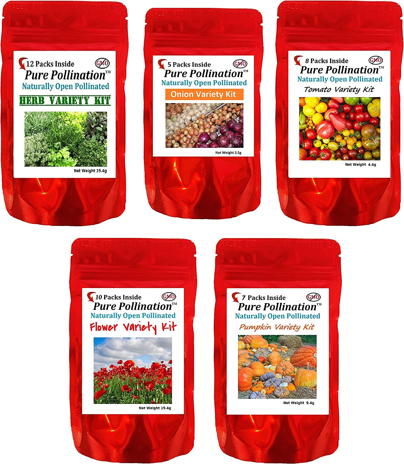 Non GMO Heirloom Onion, Herb, Pumpkin, Tomato, Flower Seeds 42 Varieties Seed Pack All Natural Emergency Seed Bank MRE