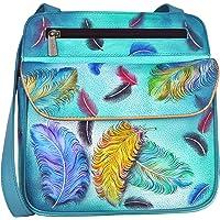 Anuschka Multi Pocket Travel Cross Body Bag