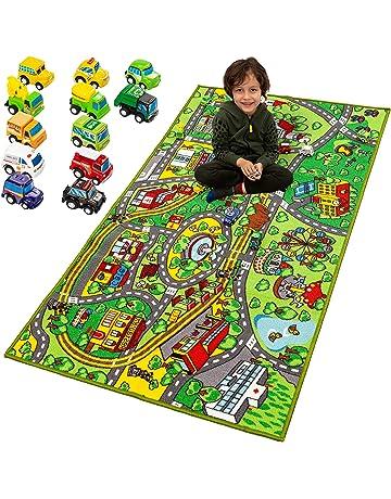 Kids Owl Rug Light Cream Multi Colour Children Bedroom Carpet Girl Boy Play Mat