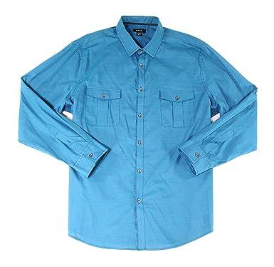 3e5d2aba68a Amazon.com  Alfani Mens Warren Pattern Formal Button-Down Shirt ...