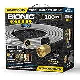 Bionic Steel PRO Garden Hose - 304 Stainless Steel Metal 100 Foot Garden Hose – Heavy Duty Lightweight, Kink-Free, and Strong