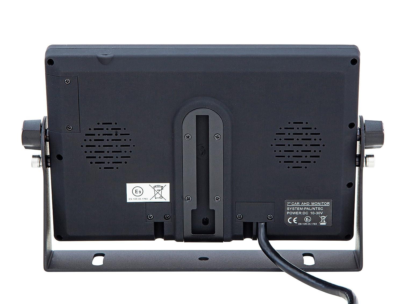 livr/é avec 20 m de c/âble 2 entr/ées vid/éo vision nocturne extr/êmement robuste 120/° /& IP67 12-24 V VSG Syst/ème de recul ultrarobuste d/éfinition 30 /% sup/érieure /étrier de support