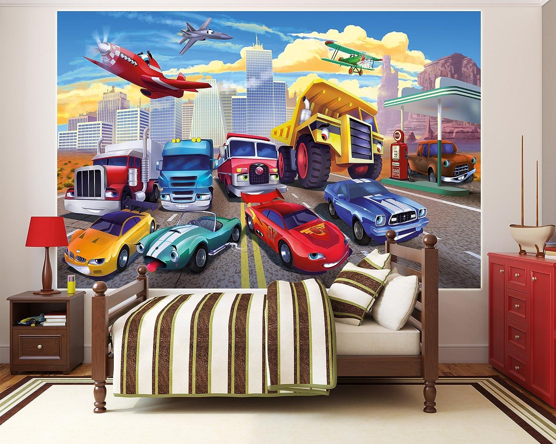Amazon.de: Poster für Kinderzimmer Autorennen Wandbild Dekoration ...