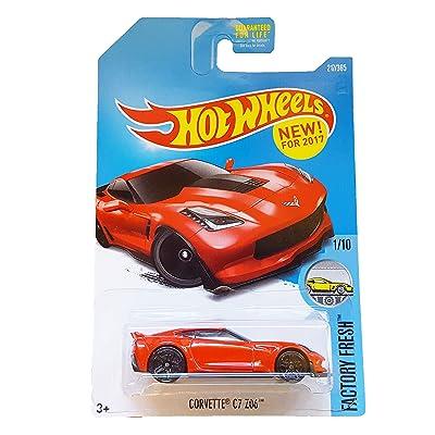Hot Wheels 2020 Factory Fresh Corvette C7 Z06 217/365, Red: Toys & Games