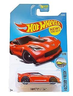 Hot Wheels 2017 Factory Fresh Corvette C7 Z06 217/365, Red Mattel .