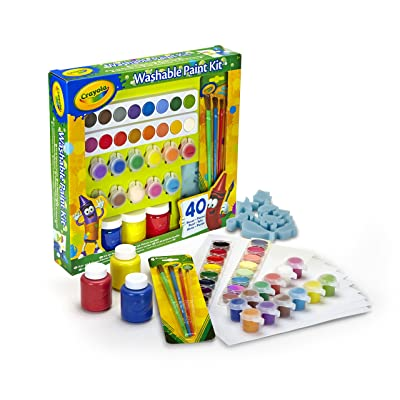 Crayola Washable Lids Paint Kit: Toys & Games