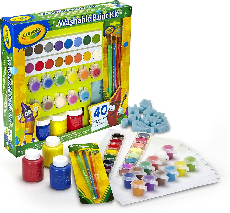 CRAYOLA- Set Pinturas Kids 40 pzas 31x30, Multicolor (54-0155 ...