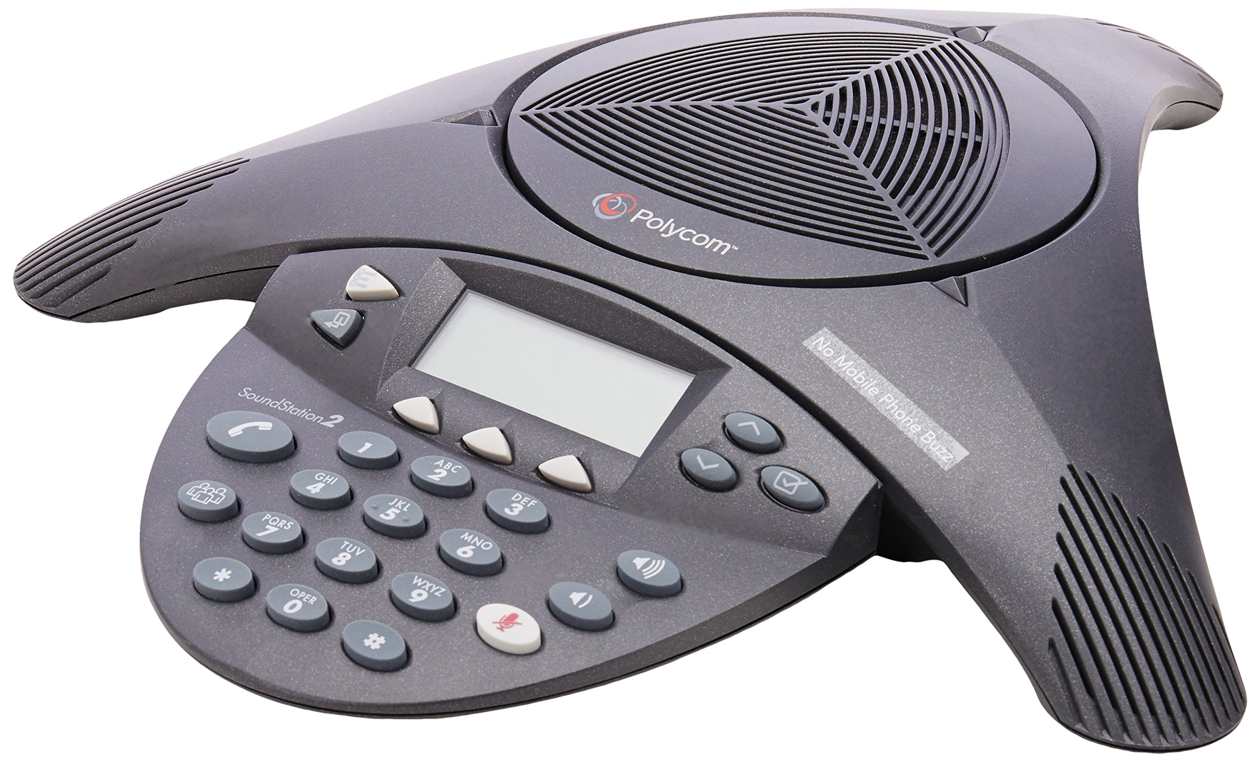 Polycom SoundStation 2 Non Expandable Analog Conference Phone (2200-16000-001) by Polycom