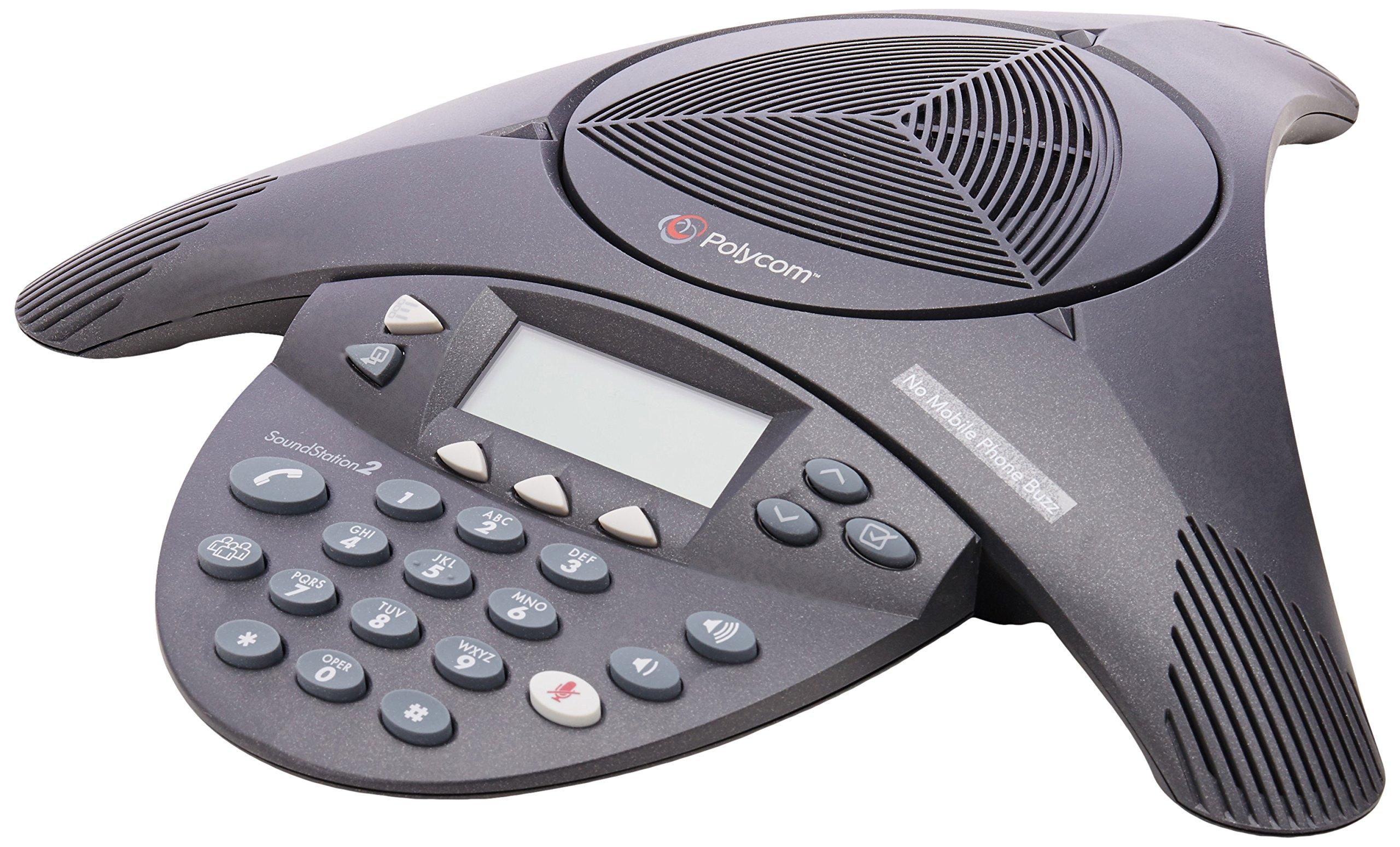 Polycom SoundStation 2 Non Expandable Analog Conference Phone (2200-16000-001) by Polycom
