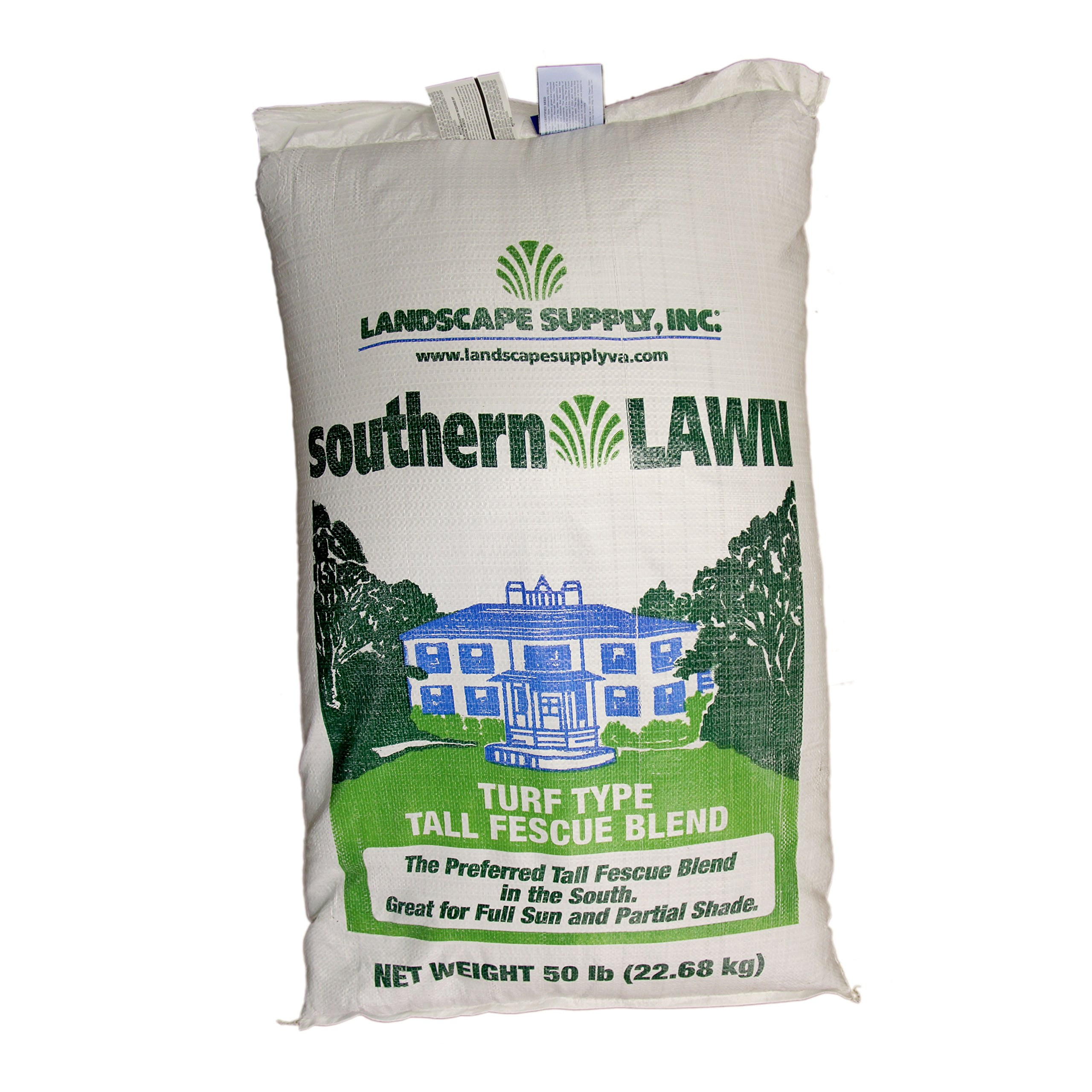 LSI southernLAWN THREE-WAY BLEND Premium Blue Tag Certified Turf Type Tall Fescue, 50 Pound Bag