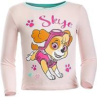Brandsseller Camiseta de manga larga para niña con motivos en estilo de La Patrulla Canina, 100% algodón.