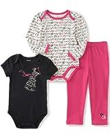 Calvin Klein Baby Girls' 3 Piece Creeper Pants Set