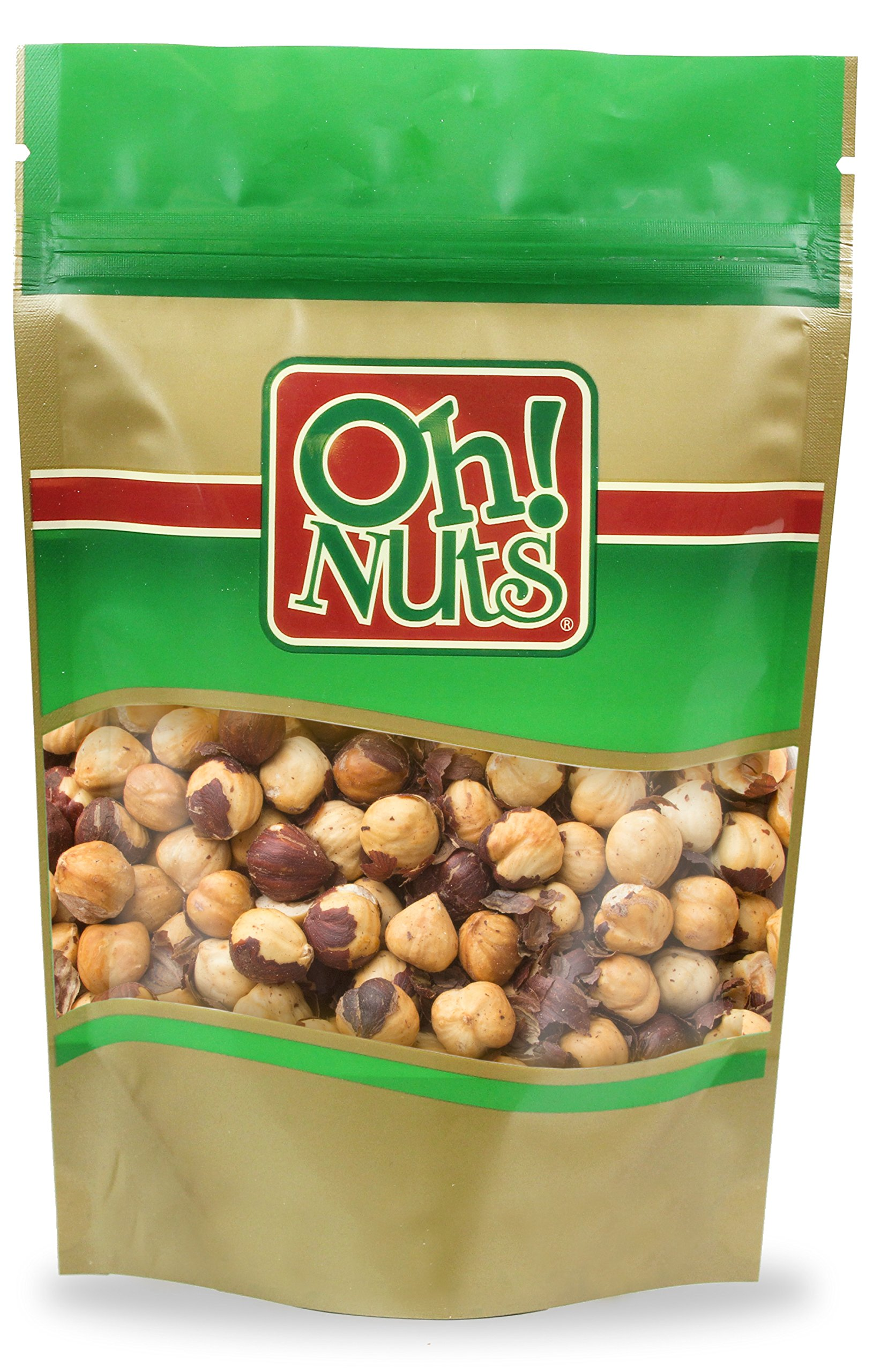 Hazelnuts Roasted Unsalted Healthy Nuts, Hazelnuts Filberts Dry Roasted with NO ADDED OILS or SALT - Oh! Nuts (5 LB Hazelnuts Roasted Unsalted)