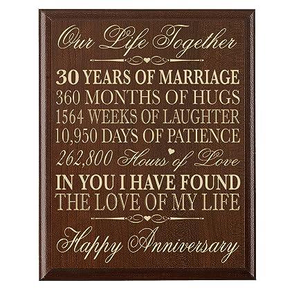Amazon.com: LifeSong Milestones 30th Anniversary Gift ideas for ...