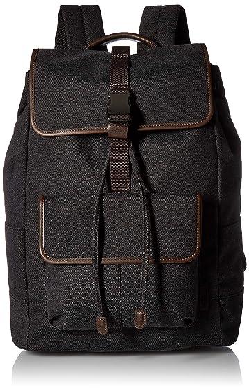 Fossil Men's Defender Leather Trim Rucksack Backpack