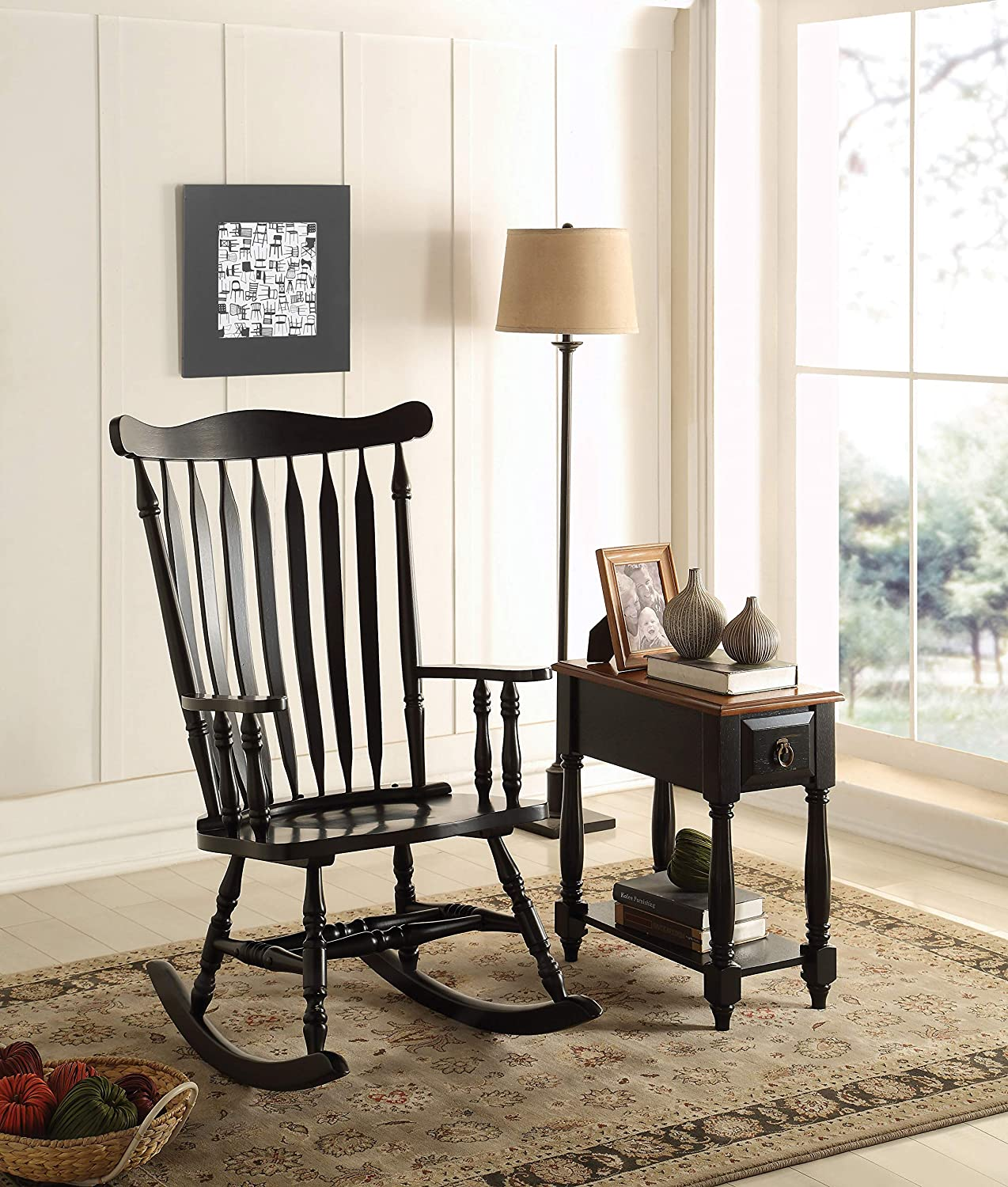 ACME Furniture 59211 Kloris Rocking Chair, Black