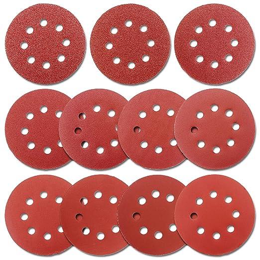 30PCS 5 Inch Sanding Disc Sandpaper Rotary Grinding Sandpaper for Orbital Sander