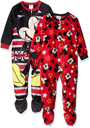d678b0646 Disney Boys Mickey Mouse 2-Pack Fleece Blanket Sleeper Blanket ...