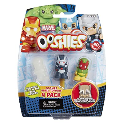 "Ooshies Set 3 ""Marvel Series 1"" Action Figure (4 Pack): Toys & Games"