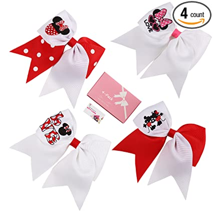 Amazon 4 Pack 6 Cheer Bows For Baby Girls Hair Bows With