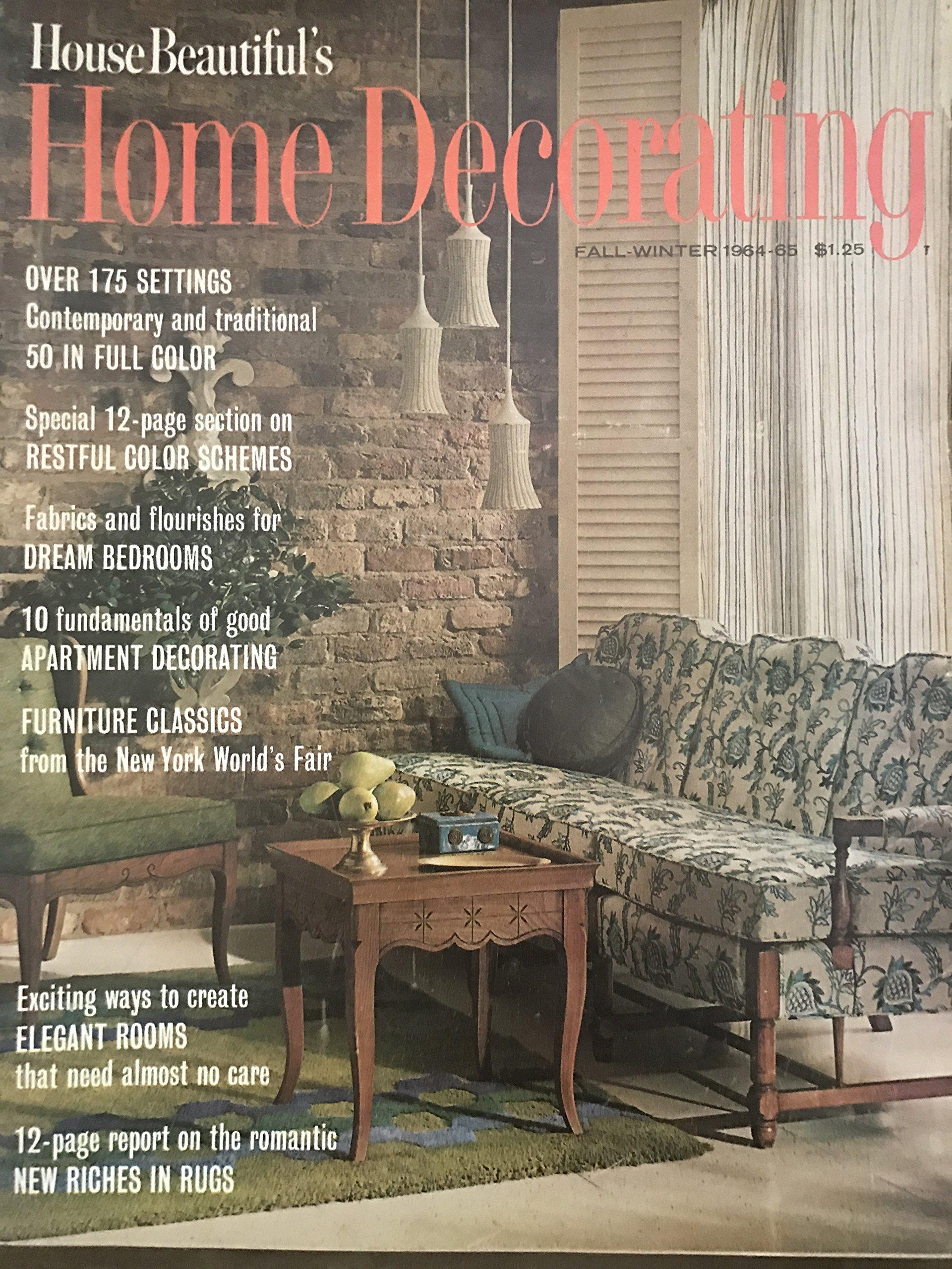 HOUSE BEAUTIFUL HOME DECORATING MAGAZINE FALL 1964/WINTER ...