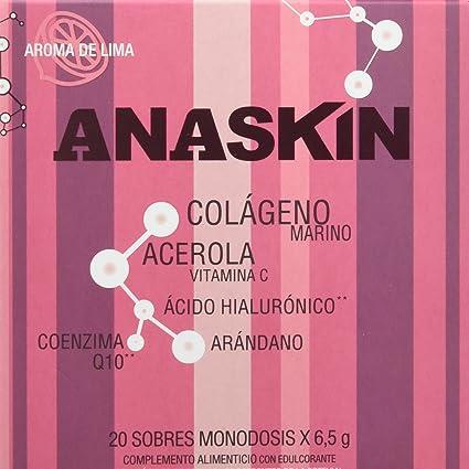 Anaskin Sobres Colágeno, Ácido Hialurónico, Coenzima Q10, Acerola y Arándano 130 g -