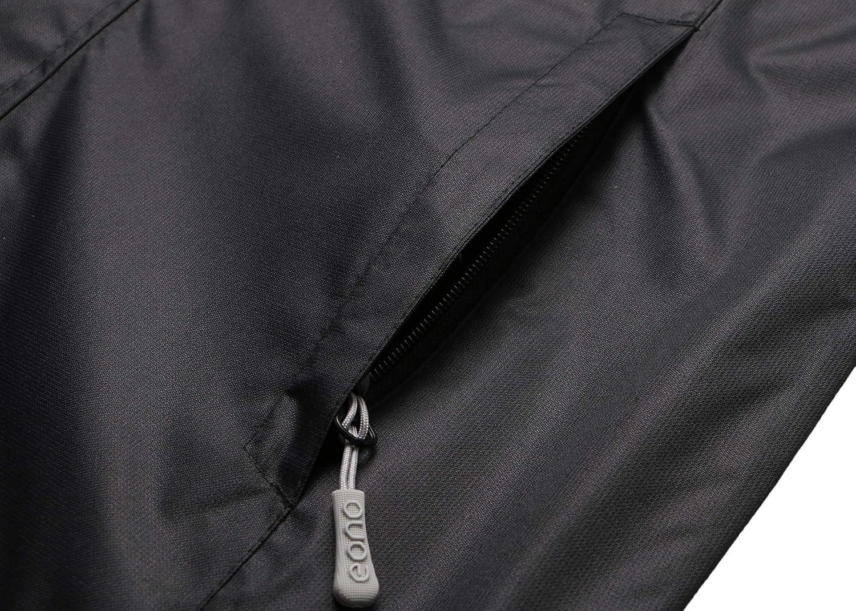 Marke: Eono Essentials Wasserfeste und atmungsaktive Herrenjacke /Übergangsjacke Large Schwarz