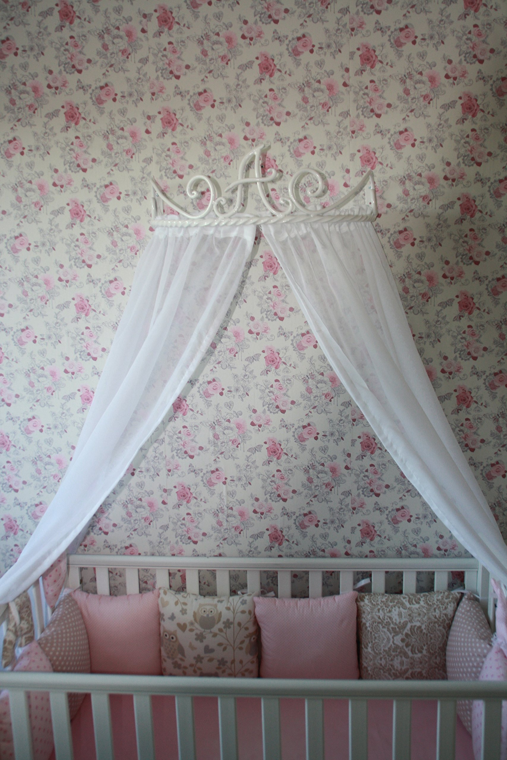 Bed Canopy Holder Crown Curtains Forged Queen Baby King Frame Princess Kids Crib Hot Forged Blacksmith Vintage Antique Style