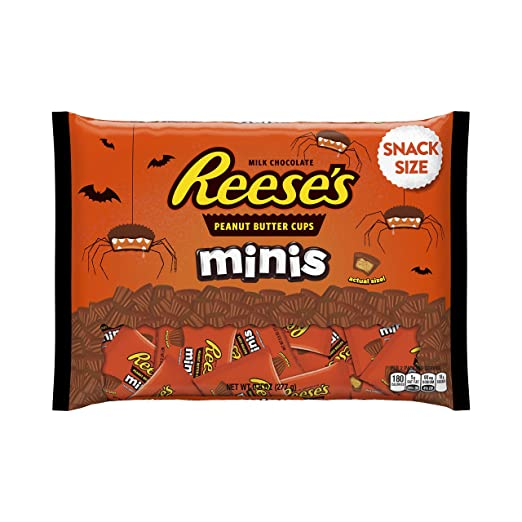 REESE'S Halloween Snack Size Minis, (9.8-Ounce Bag)
