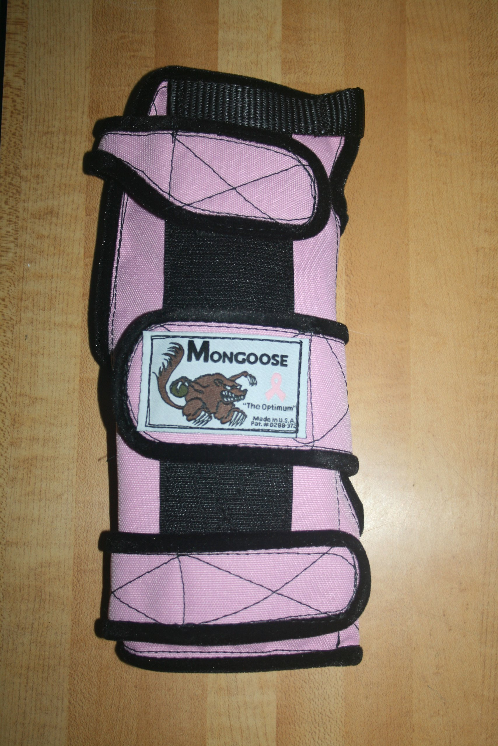 Mongoose ''Optimum bowling Wrist Support Left hand, Large, Pink by Mongoose