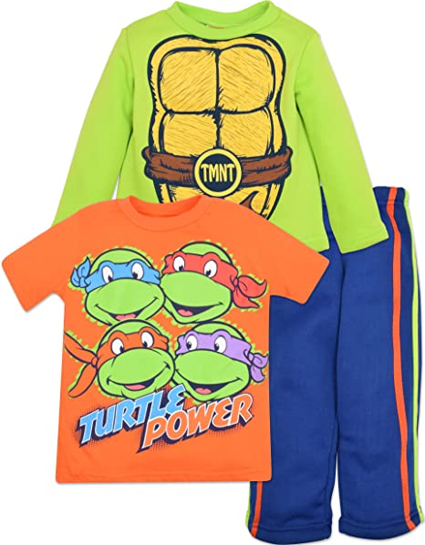 Amazon.com: Ninja Turtles Tricot Set 3 Piece Toddler Boys ...