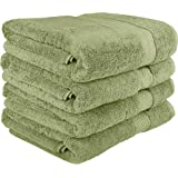 Utopia Towels 700 GSM Premium Green Bath Towels Set - Pack of 4 - (27x54 Inches) - 100% Ring-Spun Cotton Towels for Home, Hotel and Spa – Green Towels Set with Maximum Softness and High Absorbency by