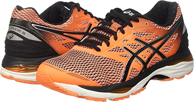 Asics T6c3n3090 - Zapatillas para correr para hombre, color Naranja (Hot Orange/Black/White), talla 48 EU: Amazon.es: Zapatos y complementos